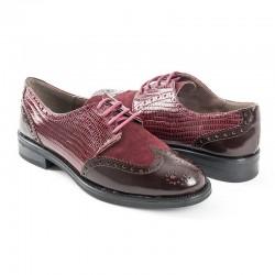 Zapato Oxford piel burdeos