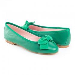 Bailarina piel verde lazo