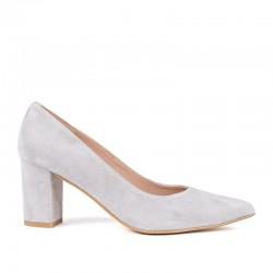 Zapato tacón ante gris