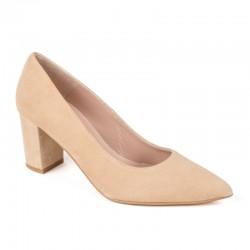 Zapato tacón ante camel
