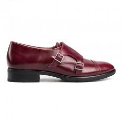 Zapato inglés piel burdeos