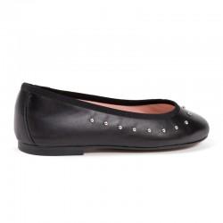 Zapato de tacón medio en ante fucsia