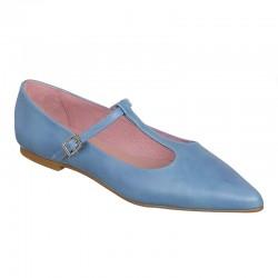 Bailarina azul hebilla