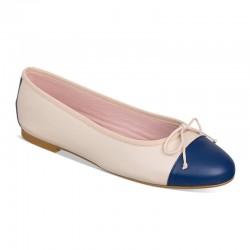 Bailarina crudo y azul