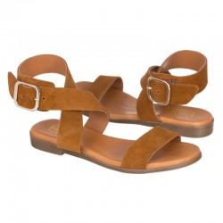 Sandalia serraje marrón