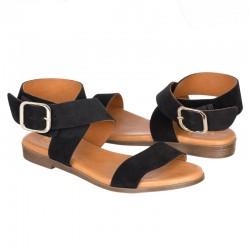 Sandalia serraje negro