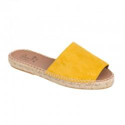 Alpargata plana amarilla
