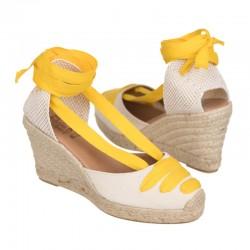 Alpargata cintas amarillas
