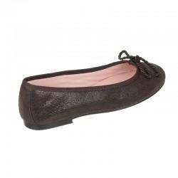 Zapato salón tacón ante negro - Modelo Berlín.