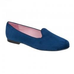 Slipper terciopelo azul marino