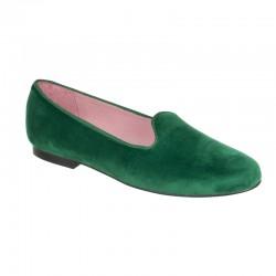 Slipper terciopelo verde