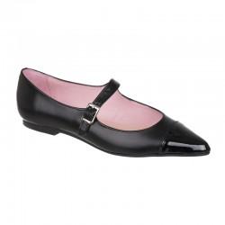 Zapato salón tacón piel tipo serpiente, color natural con plataforma interior - Modelo Angari.