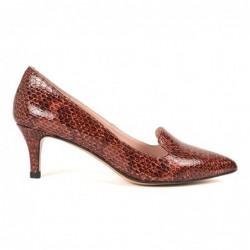 Zapato piel boa marrón