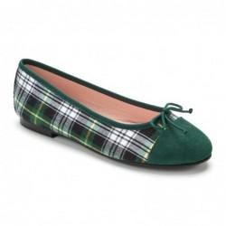 Bailarina tejido escocés verde