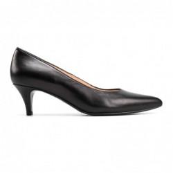 Zapato tacón piel negro