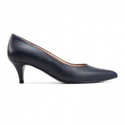Zapato tacón piel azul