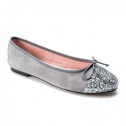 Bailarina ante y glitter gris